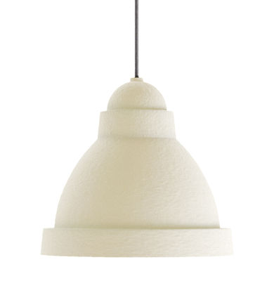 Luminaire - Suspensions - Suspension Salago Small / Ø 35 - Papier - Moooi - Beige - Acrylique, Papier mâché