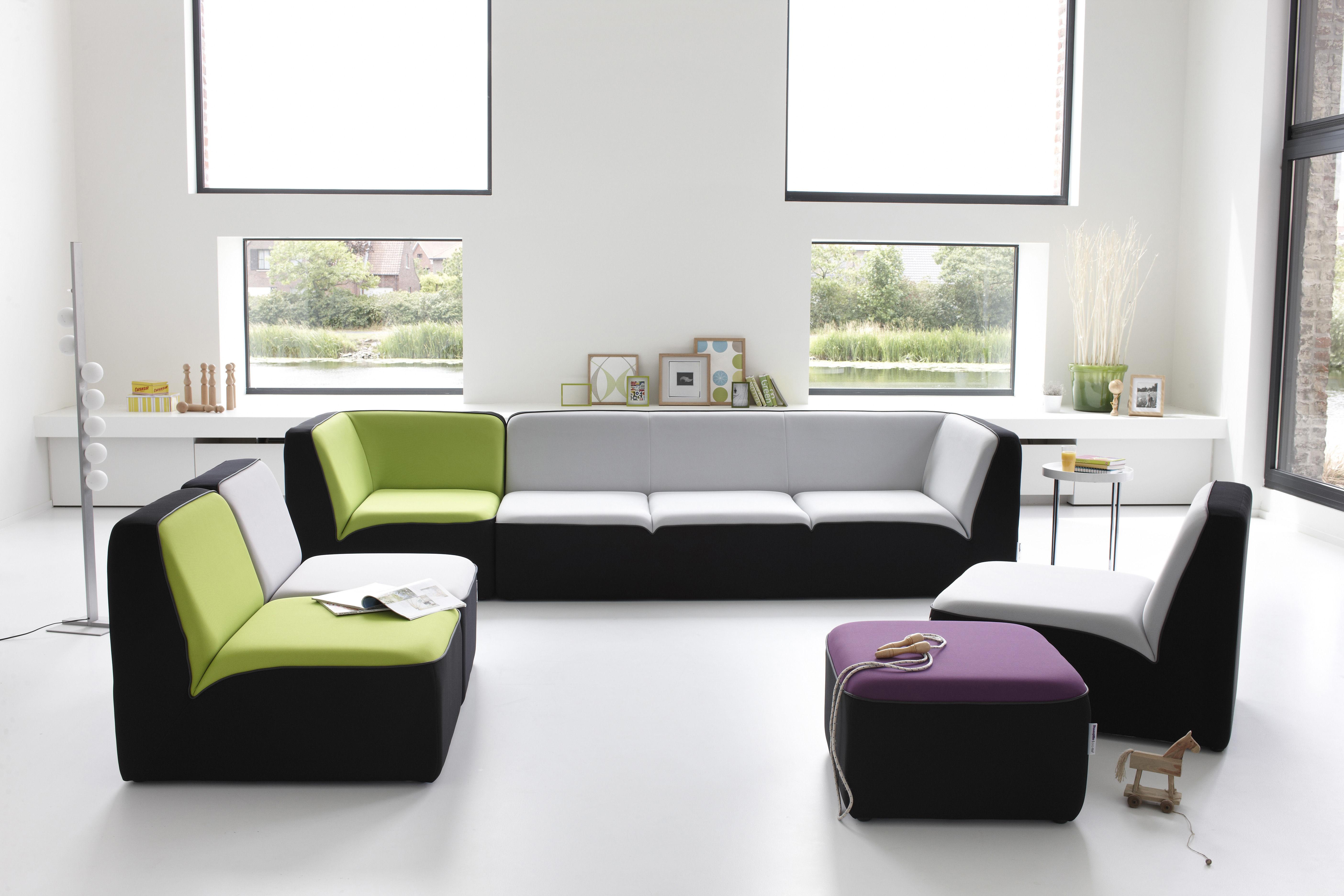 canap droit e motion by ora ito 2 places l 160 cm noir passepoil noir mat dunlopillo. Black Bedroom Furniture Sets. Home Design Ideas