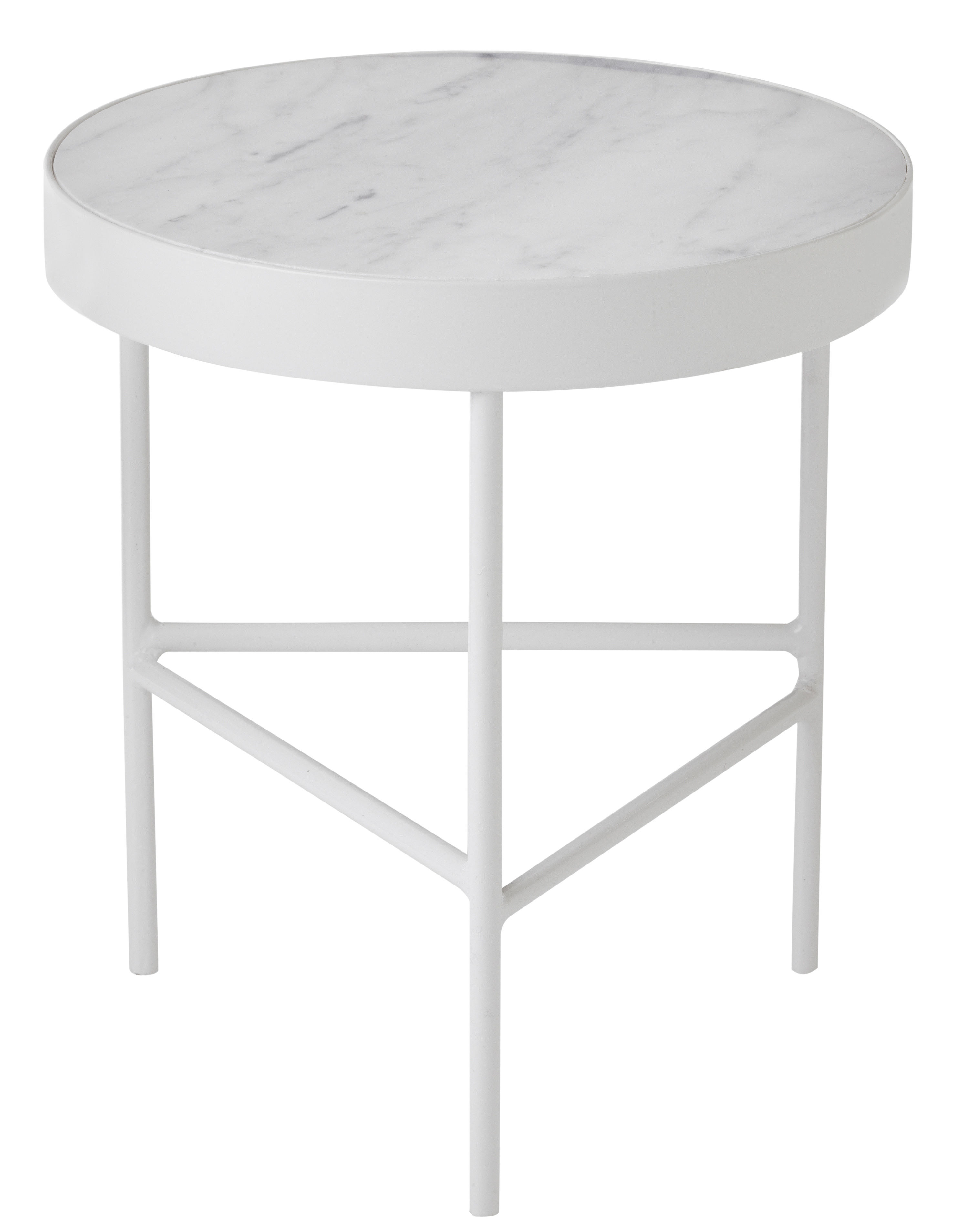Marble medium end table 40 x h 45 cm white by ferm living for Coffee table 70 x 40