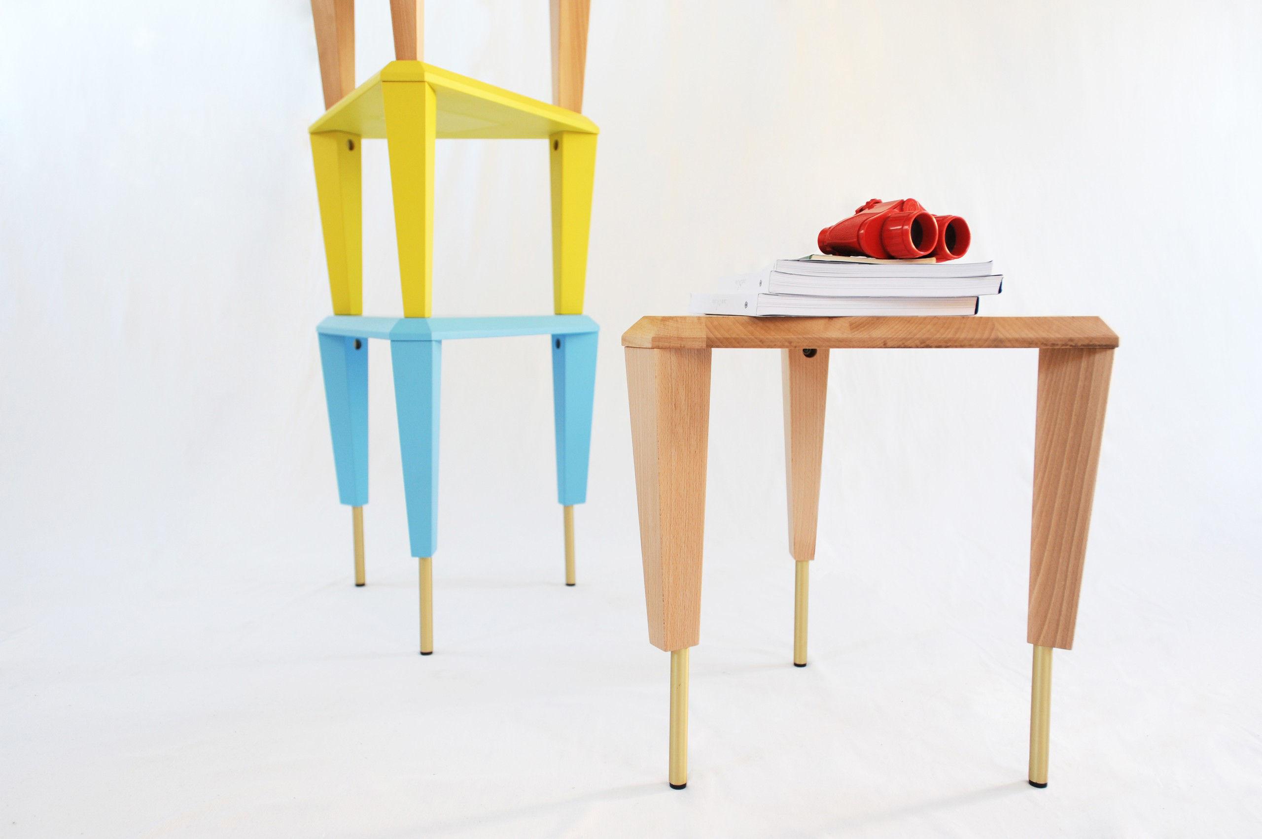 table d 39 appoint ziggurat etag re modulable bois clair smarin. Black Bedroom Furniture Sets. Home Design Ideas