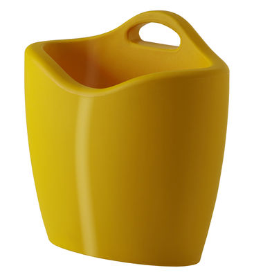 Porte-revues Mag version laquée - Slide laqué jaune en matière plastique