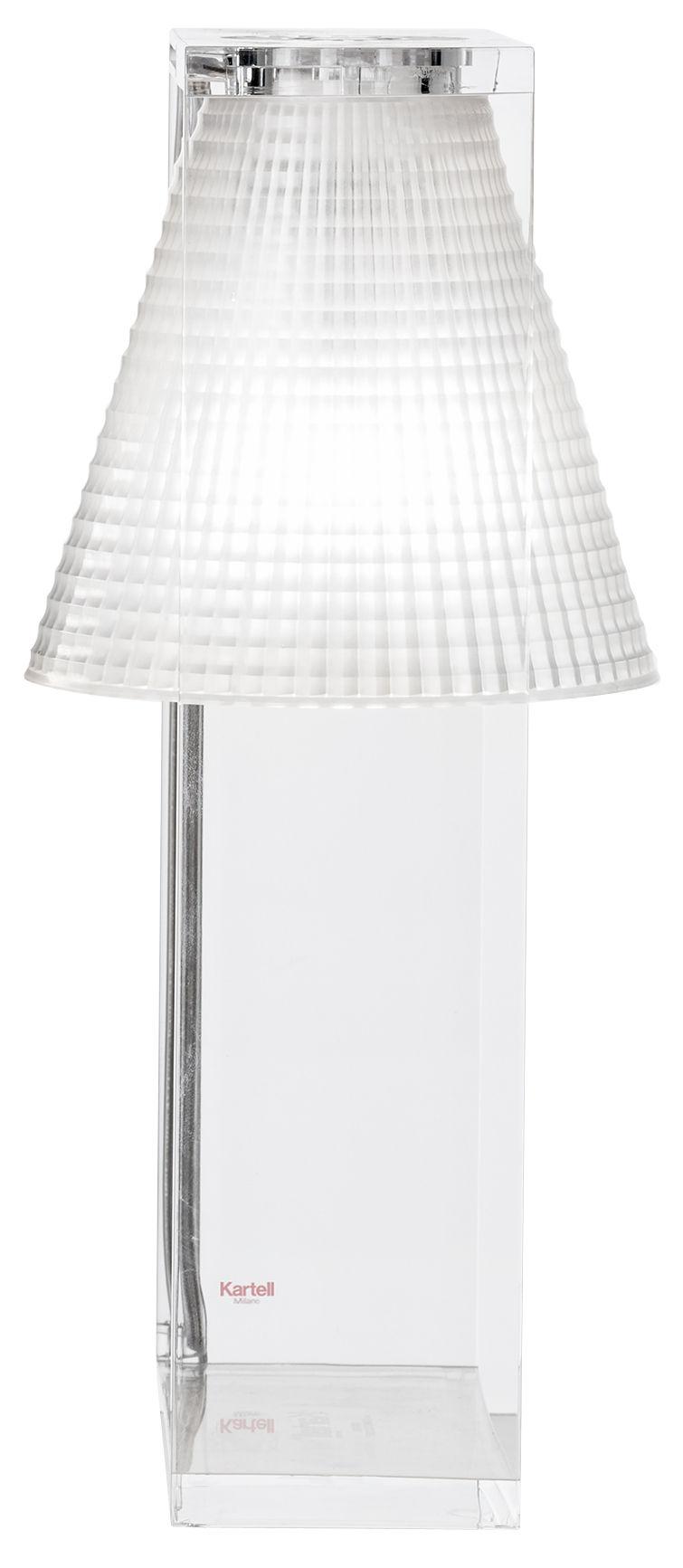 lampe de table light air abat jour plastique sculpt plastique cristal cadre cristal kartell. Black Bedroom Furniture Sets. Home Design Ideas