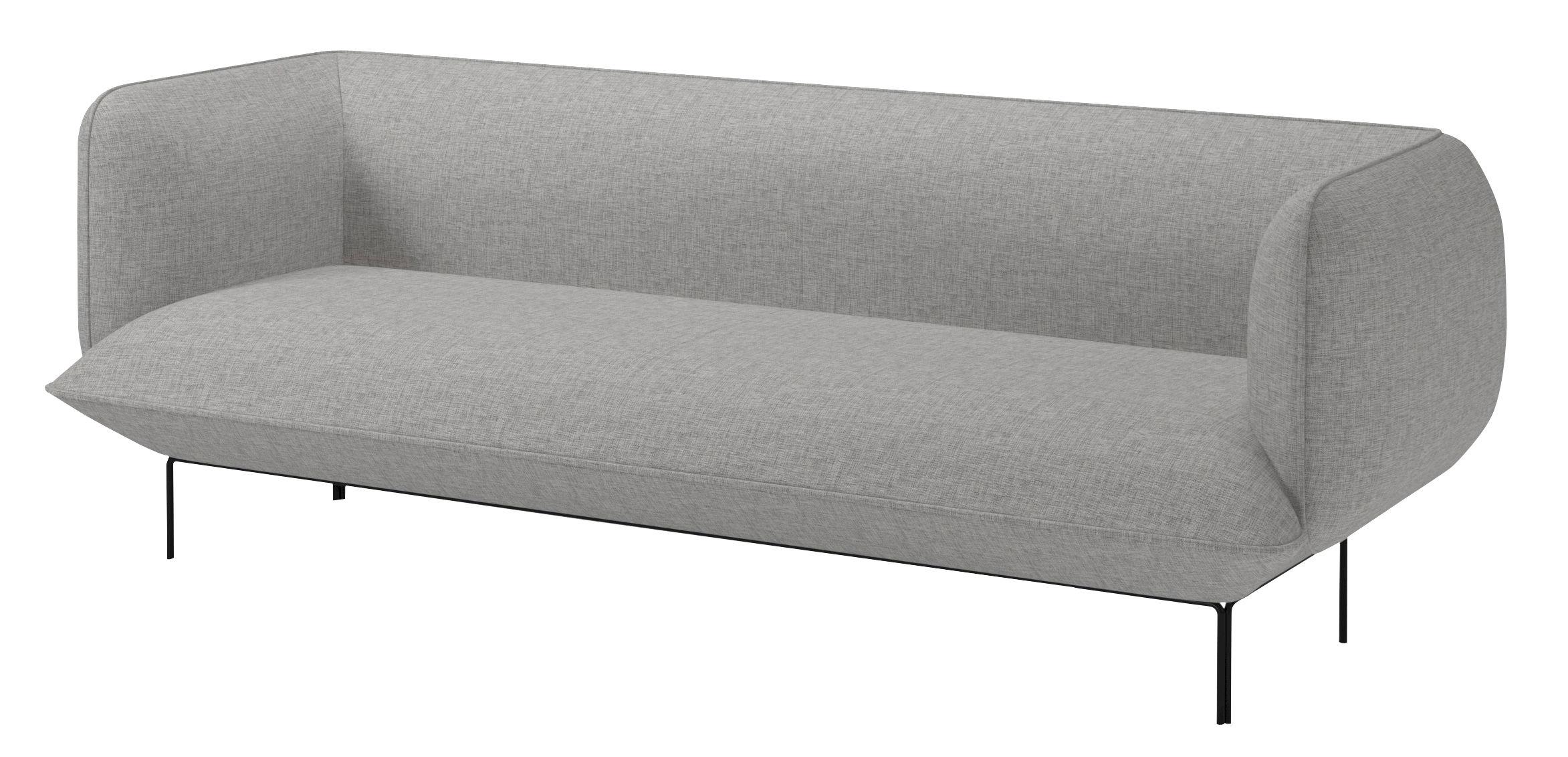 Scopri divano destro cloud 3 posti l 222 cm tessuto for Divano 60 cm
