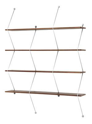 Etagère Climb / L 120 x H 155 cm - La Chance chromé,noyer en métal