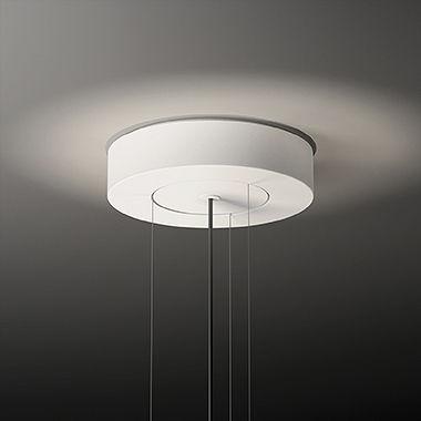 suspension flamingo led 70 cm blanc mat blanc vibia made in design. Black Bedroom Furniture Sets. Home Design Ideas