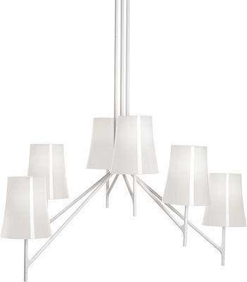 Luminaire - Suspensions - Suspension Birdie / 9 bras - Foscarini - 9 bras / Blanc - Acier inoxydable verni, Polycarbonate