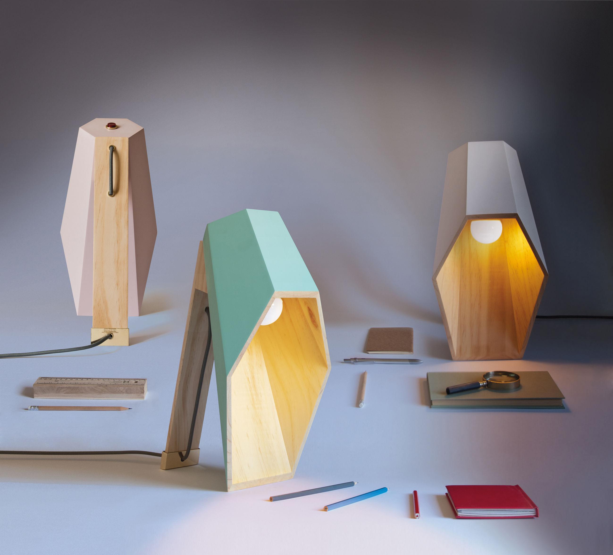 lampe de table woodspot led h 44 cm blanc seletti. Black Bedroom Furniture Sets. Home Design Ideas