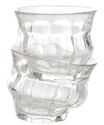 Verre Tipsy / Autour de Duralex© - Set de 2 - Loris&Livia - Pop Corn transparent en verre