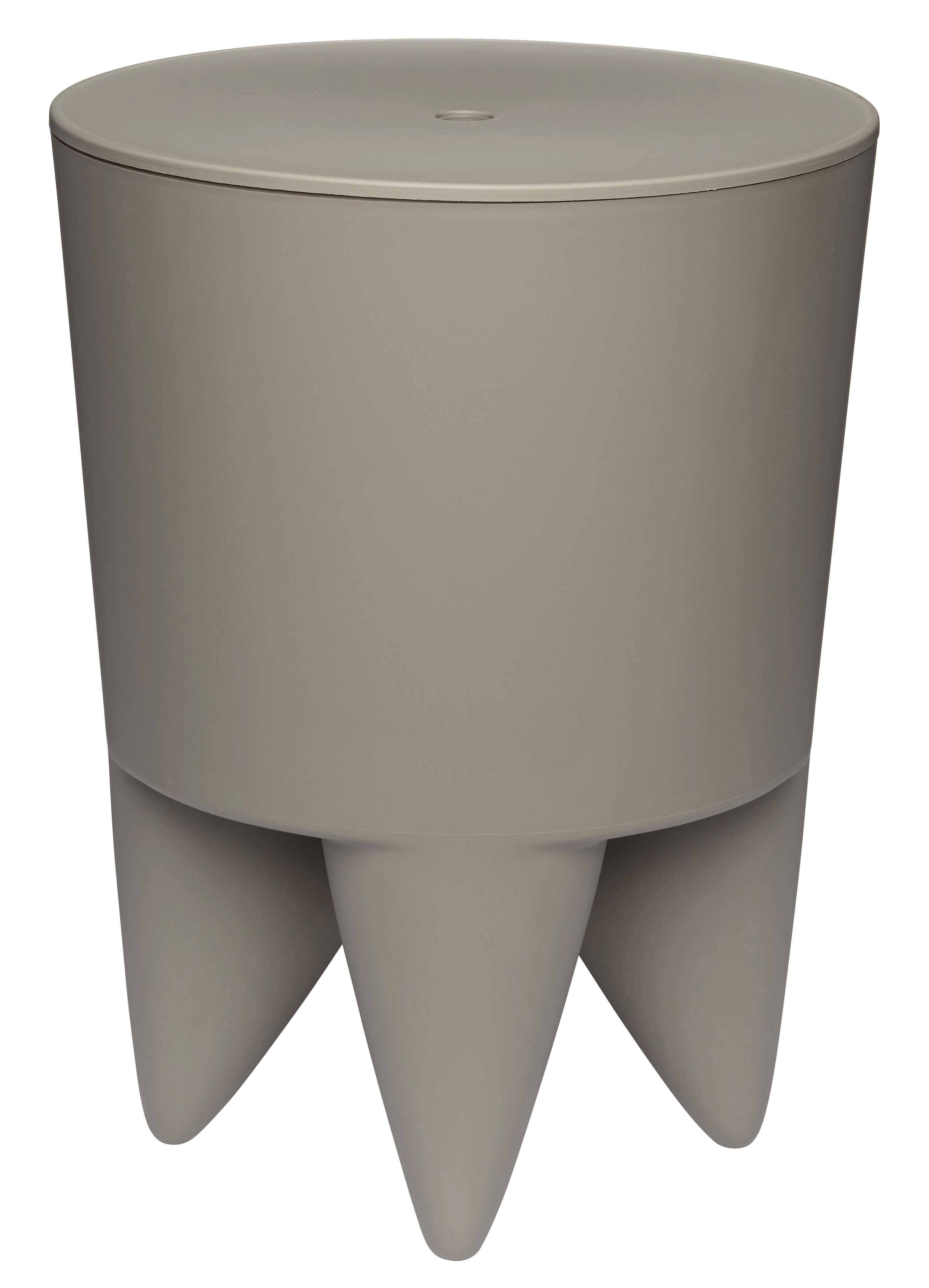 tabouret new bubu 1er coffre plastique gris taup xo. Black Bedroom Furniture Sets. Home Design Ideas