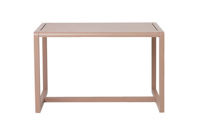 Mobilier - Mobilier Kids - Table enfant Little Architect / 4 places - 76 x 55 cm - Ferm Living - Rose - Contreplaqué de frêne