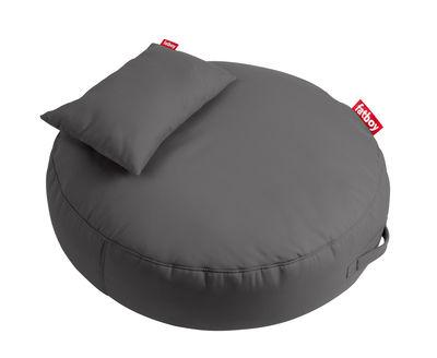 Pouf Pupillow / avec coussin - Ø 120 cm - Fatboy Ø 120 x Epais 30 cm gris en tissu