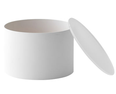 Boîte Blur S / Ø 12 x H 8 cm - Menu blanc,pêche en métal