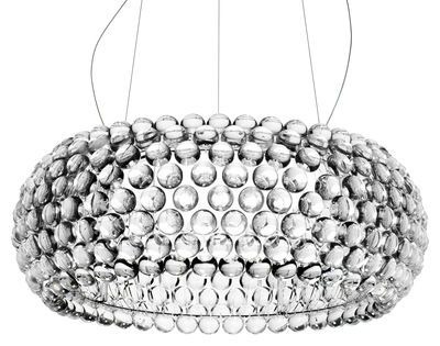 Luminaire - Suspensions - Suspension Caboche Grande LED / Ø 70 cm - Foscarini - Transparent - Métal, PMMA, Verre