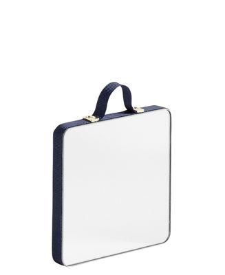 Image of Specchio Ruban XS / 8,5 x 8,5 cm - Hay - Blu - Tessuto
