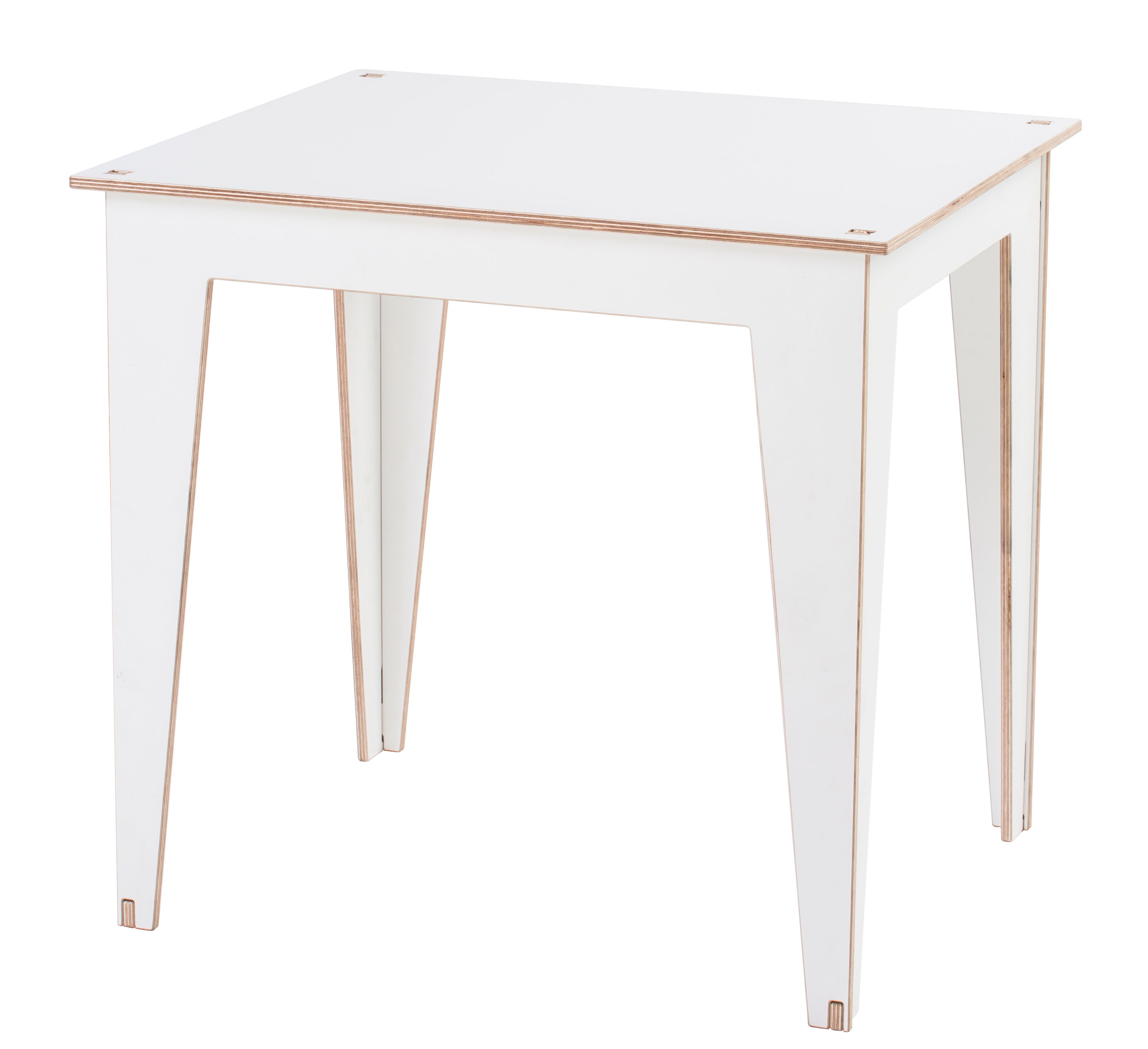 table enfant kidiki plateau tableau blanc blanc pieds blancs kirigami design. Black Bedroom Furniture Sets. Home Design Ideas