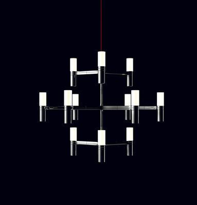 Leuchten - Pendelleuchten - Crown Pendelleuchte / Ø 77 cm - Nemo - Aluminium - Aluminium, Opalglas