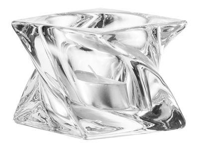 Bougeoir Swirl - Leonardo transparent en verre