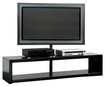 Meuble tv big irony plasma support d 39 cran plat acier for Meuble zeus