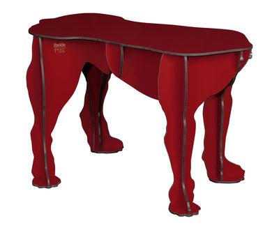 Rex Bank / Couchtisch - L 70 cm x H 45 cm - Ibride - Rot glänzend