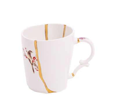Mug Kintsugi / Porcelaine & or fin - Seletti blanc,rouge,or en céramique