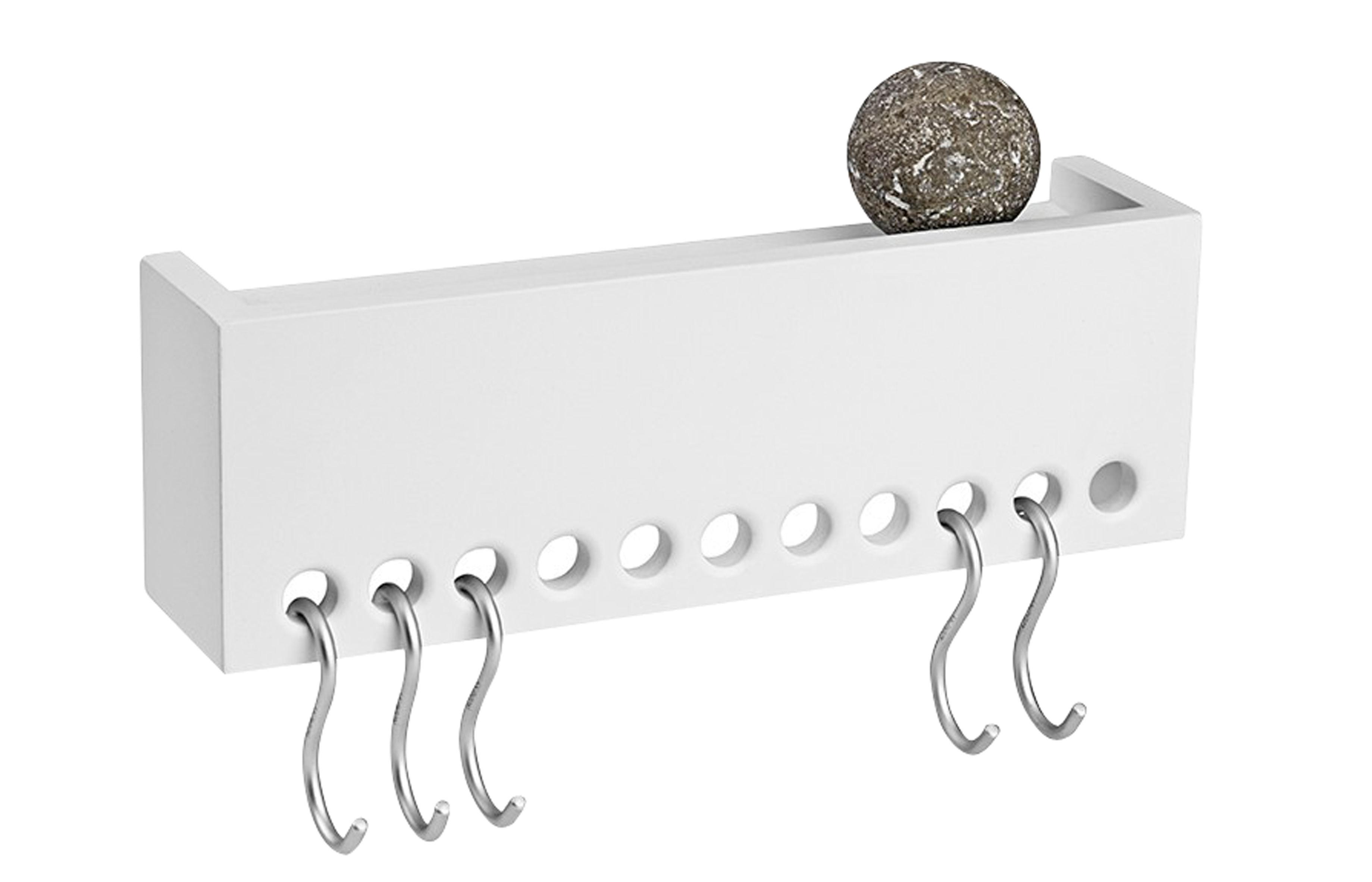 So-Hooked Regal - / Garderobe - mit 5 Haken Weiß by Nomess | Made In ...