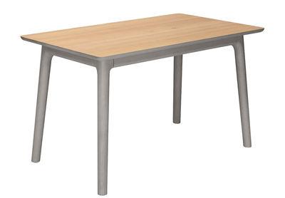 Mobilier - Tables - Table E8 / 140 x 70 cm - Zeitraum - Plateau chêne naturel / Structure chêne teinté gris froid - Chêne massif