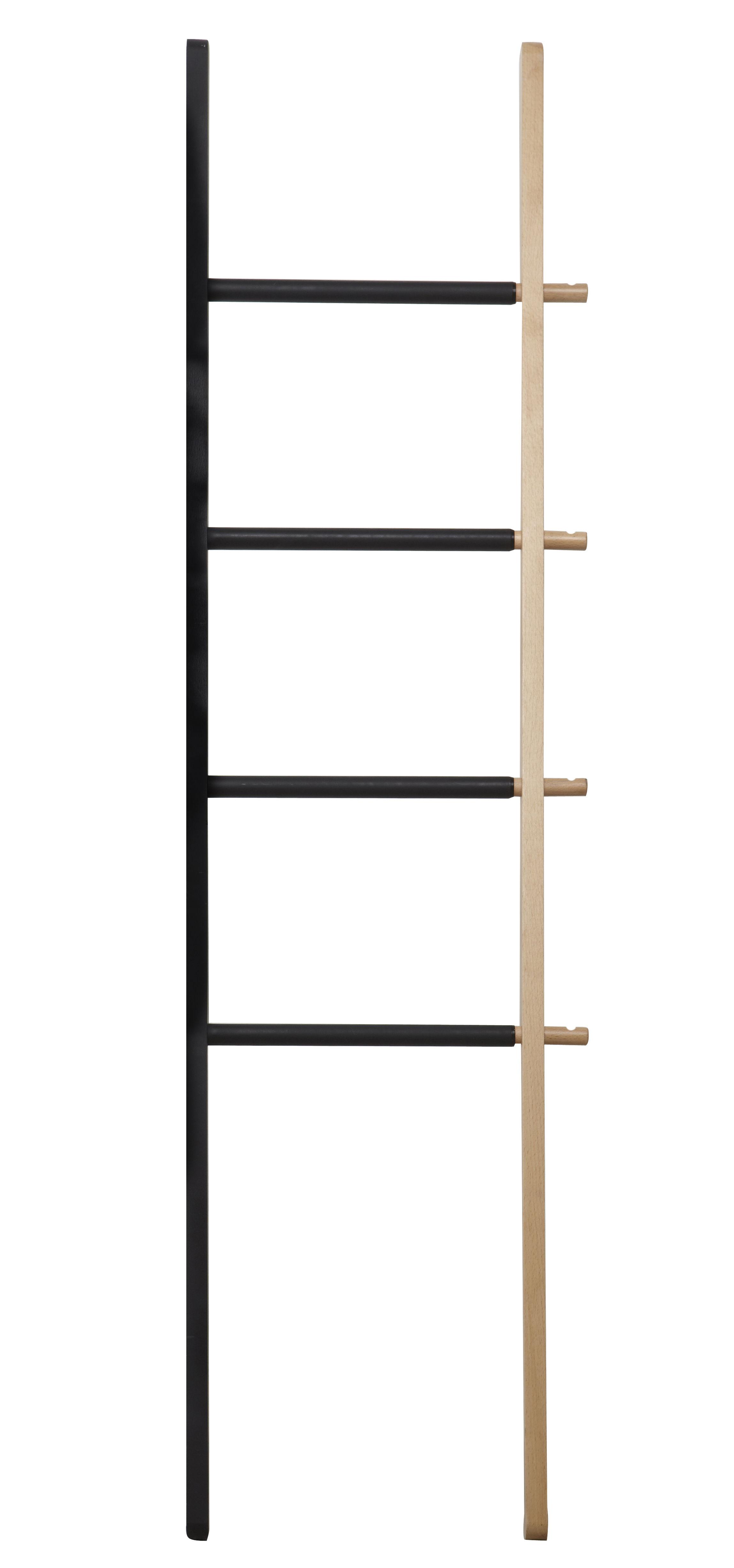 valet hub porte serviettes coulissant h 152 cm noir. Black Bedroom Furniture Sets. Home Design Ideas