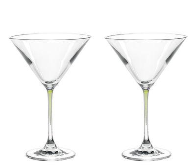 Arts de la table - Verres  - Coupe à cocktail La Perla / Set de 2 - Leonardo - Vert - Verre Teqton®