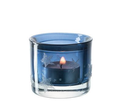 Déco - Bougeoirs, photophores - Photophore Stellato / Small - H 6 cm - Leonardo - Bleu - Verre