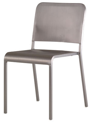Furniture - Chairs - 20-06 Stacking chair - Aluminium by Emeco - Brushed aluminium - Aluminium