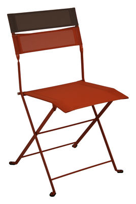 chaise pliante latitude toile paprika bandeau rouille fermob. Black Bedroom Furniture Sets. Home Design Ideas