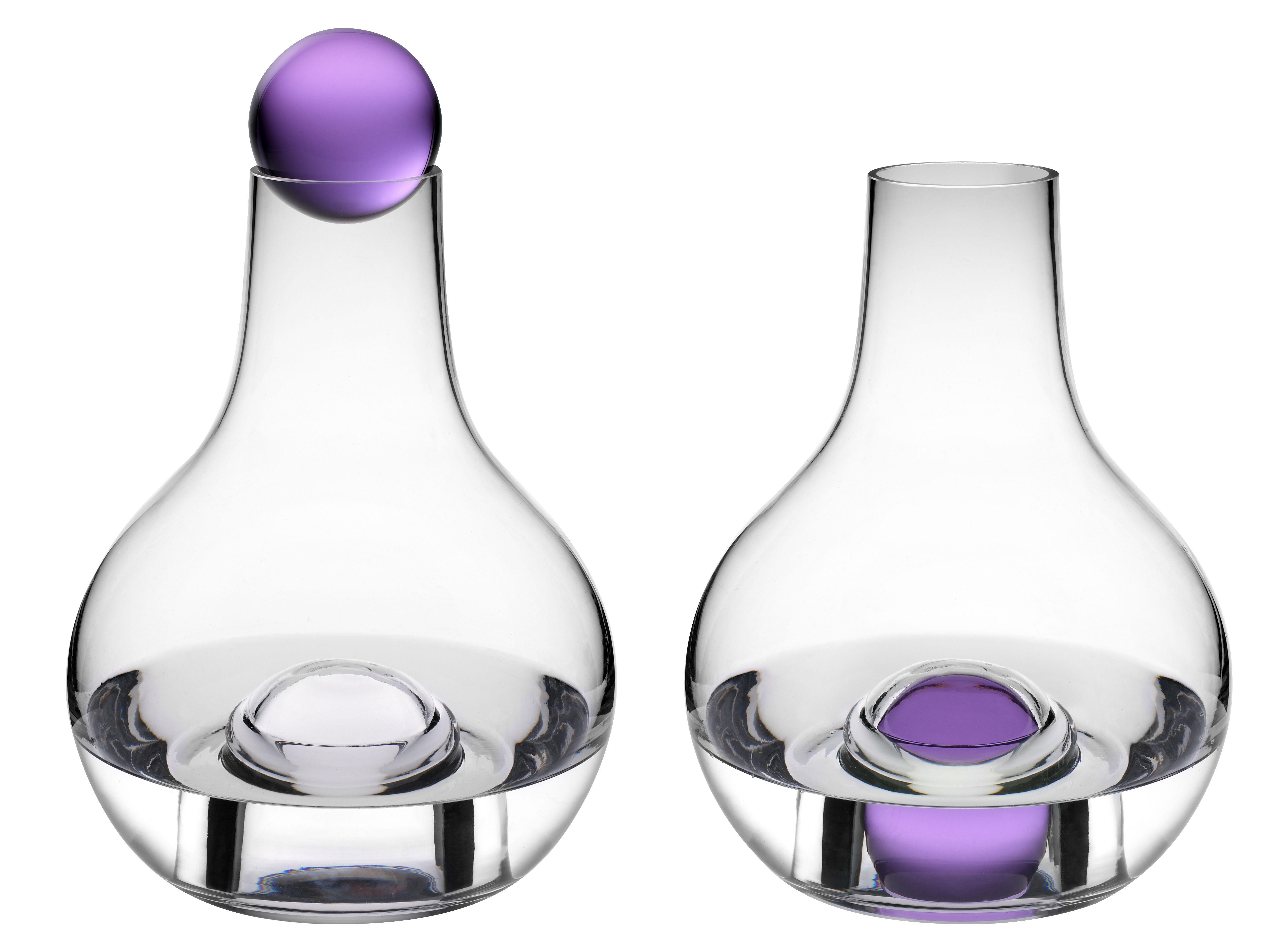 barbara carafe 1 5 l clear purple by design house. Black Bedroom Furniture Sets. Home Design Ideas