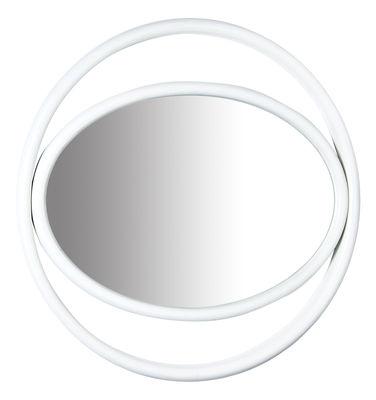 Miroir mural Eyeshine Ø 64 cm Bois cintré Wiener GTV Design blanc en bois
