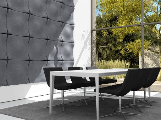 panneau acoustique mural soundwave swell gris clair offecct. Black Bedroom Furniture Sets. Home Design Ideas