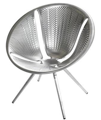 Mobilier - Chaises, fauteuils de salle à manger - Fauteuil empilable Diatom / Aluminium anodisé - Moroso - Aluminium anodisé - Aluminium anodisé
