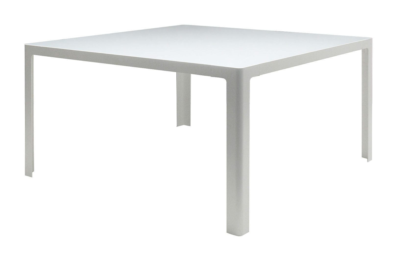 table metisse verre 140 x 140 cm plateau blanc structure blanc semi opaque zeus. Black Bedroom Furniture Sets. Home Design Ideas