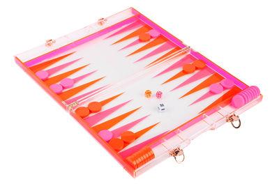 Coffret de voyage Backgammon / 41 x 26 cm - Sunnylife rose,orange en matière plastique