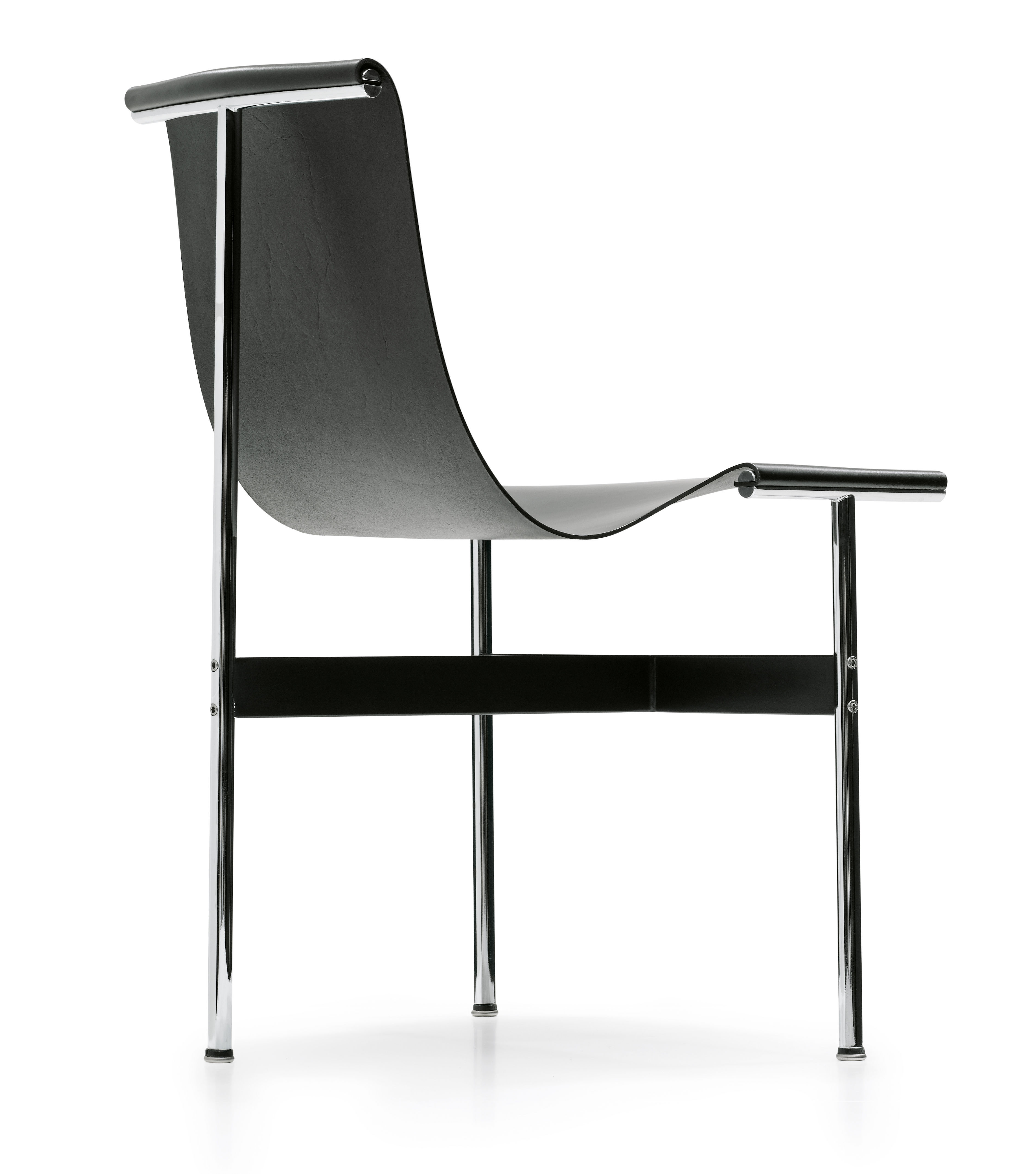 chaise new york cuir r dition 1952 cuir noir icf made in design. Black Bedroom Furniture Sets. Home Design Ideas