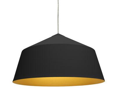 Luminaire - Suspensions - Suspension Circus Large Ø 56 x H 31cm - Innermost - Noir mat / Intérieur doré - Aluminium