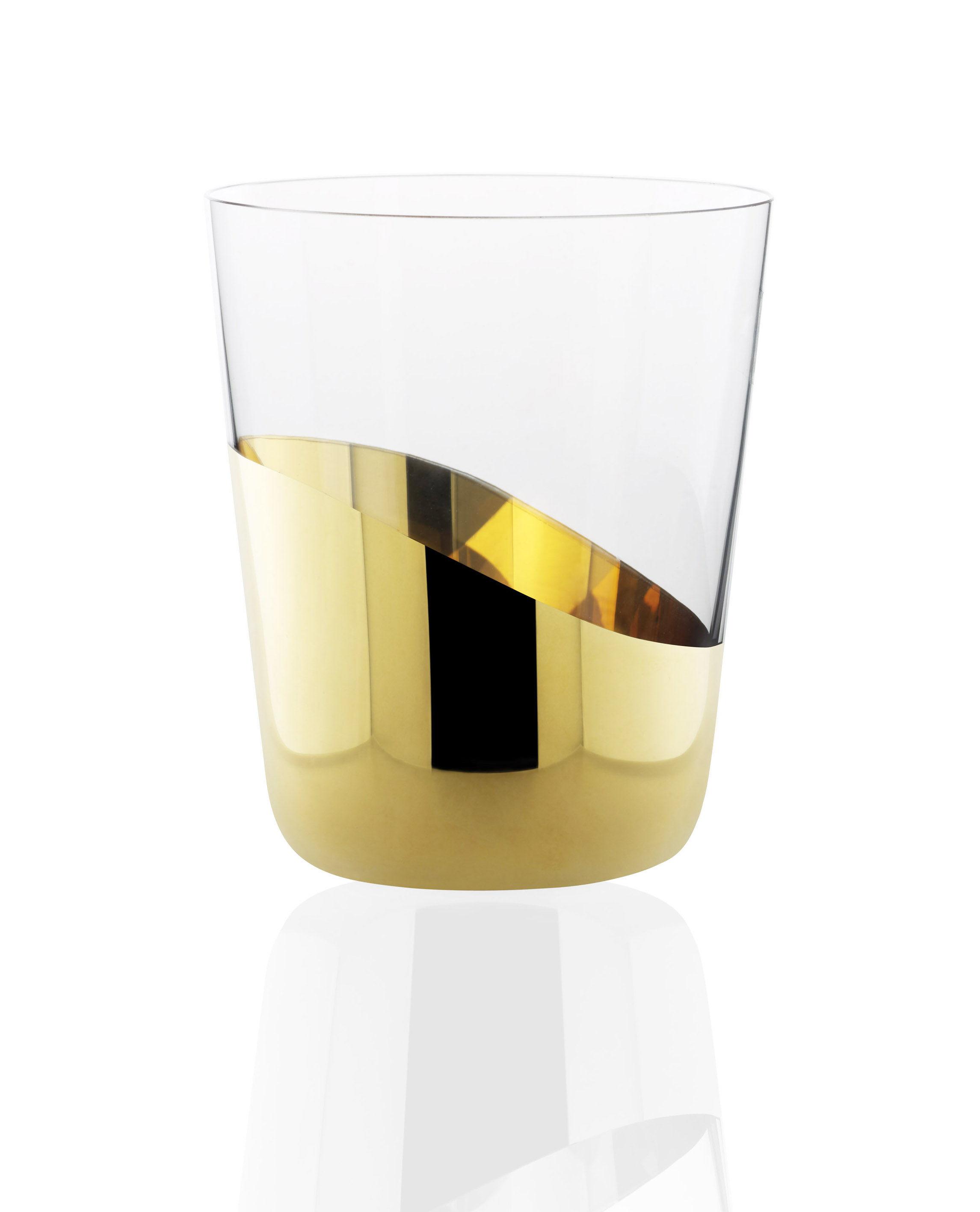 verre eau midas lot de 2 h 10 cm verre eau h 10 cm or skitsch. Black Bedroom Furniture Sets. Home Design Ideas