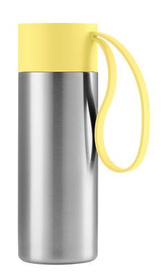 Mug isotherme To Go Cup / Avec couvercle - 0,35 L - Eva Solo acier brossé,jaune limonade en métal