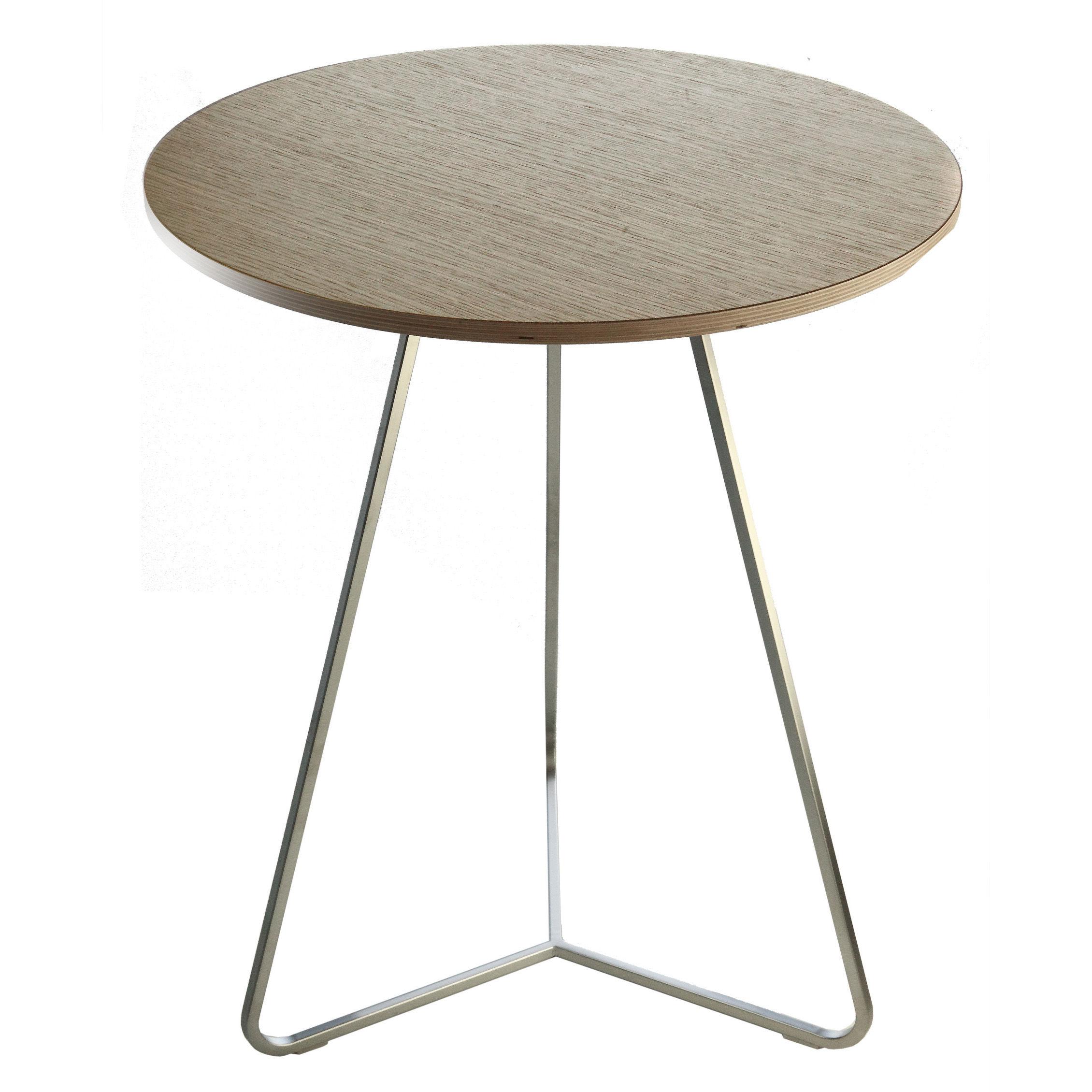 Scopri tavolo linea 60 cm cromato piano in rovere for Tavolo in rovere sbiancato