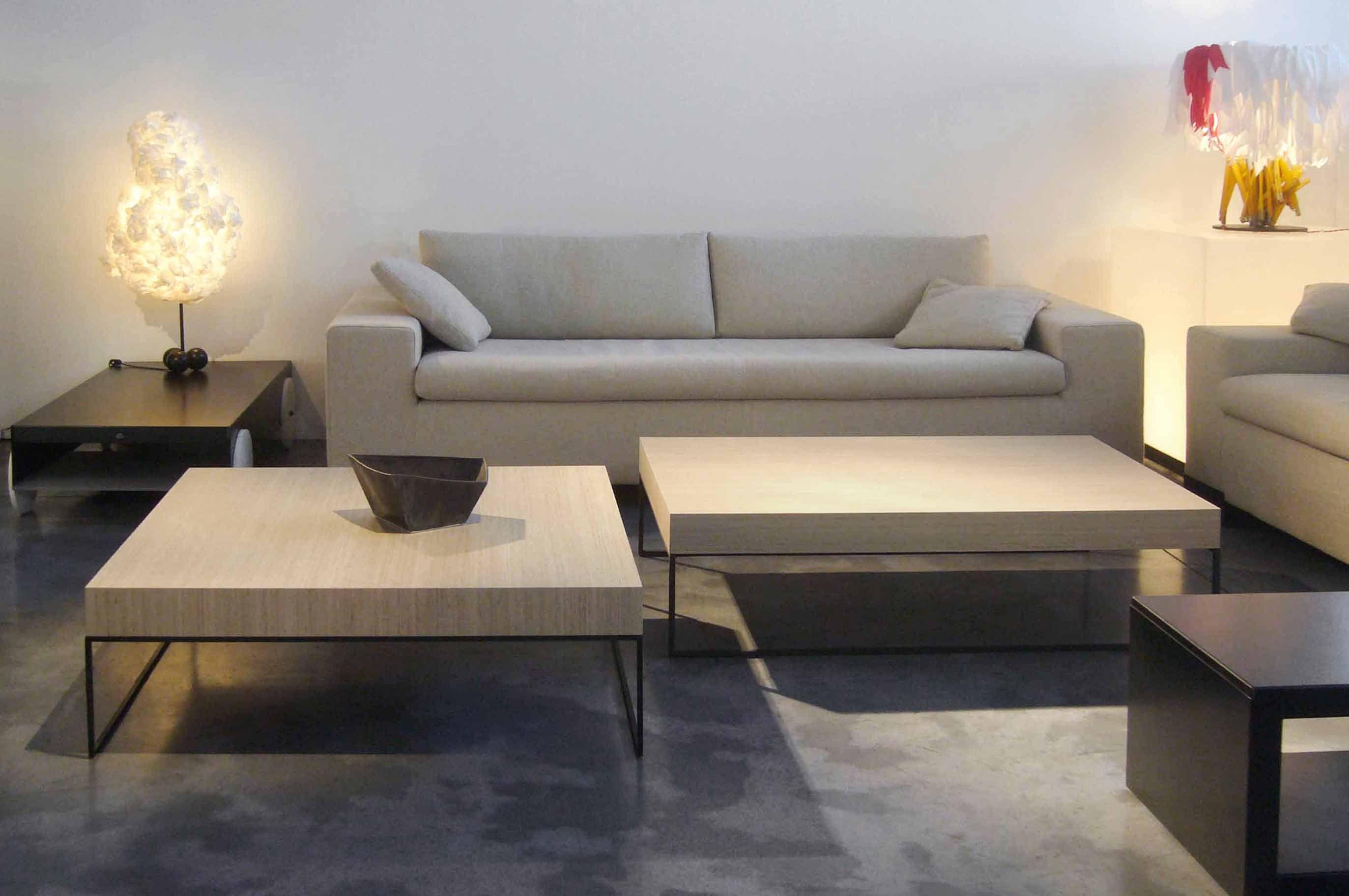 table basse home bois clair et acier noir 100 x 100 cm. Black Bedroom Furniture Sets. Home Design Ideas