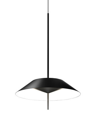 Luminaire - Suspensions - Suspension Mayfair LED / Ø 30 cm - Vibia - Graphite mat - Acier, Polycarbonate