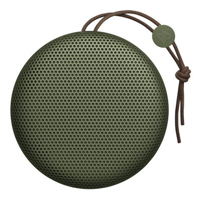 Enceinte Bluetooth Beoplay A1 Sans fil Poignée cuir B O PLAY by Bang Olufsen vert en métal