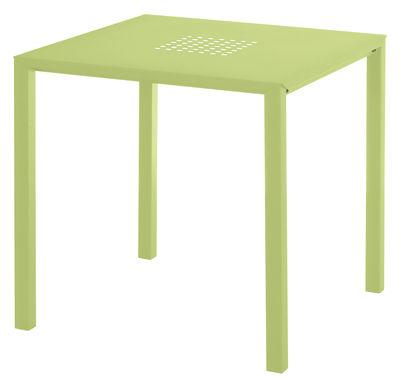 Jolly Tisch / 80 x 80 cm - Stahl - Emu - Grün