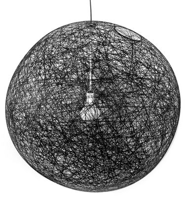 Suspension Random Light / Medium - Ø 80 cm - Moooi noir en matière plastique