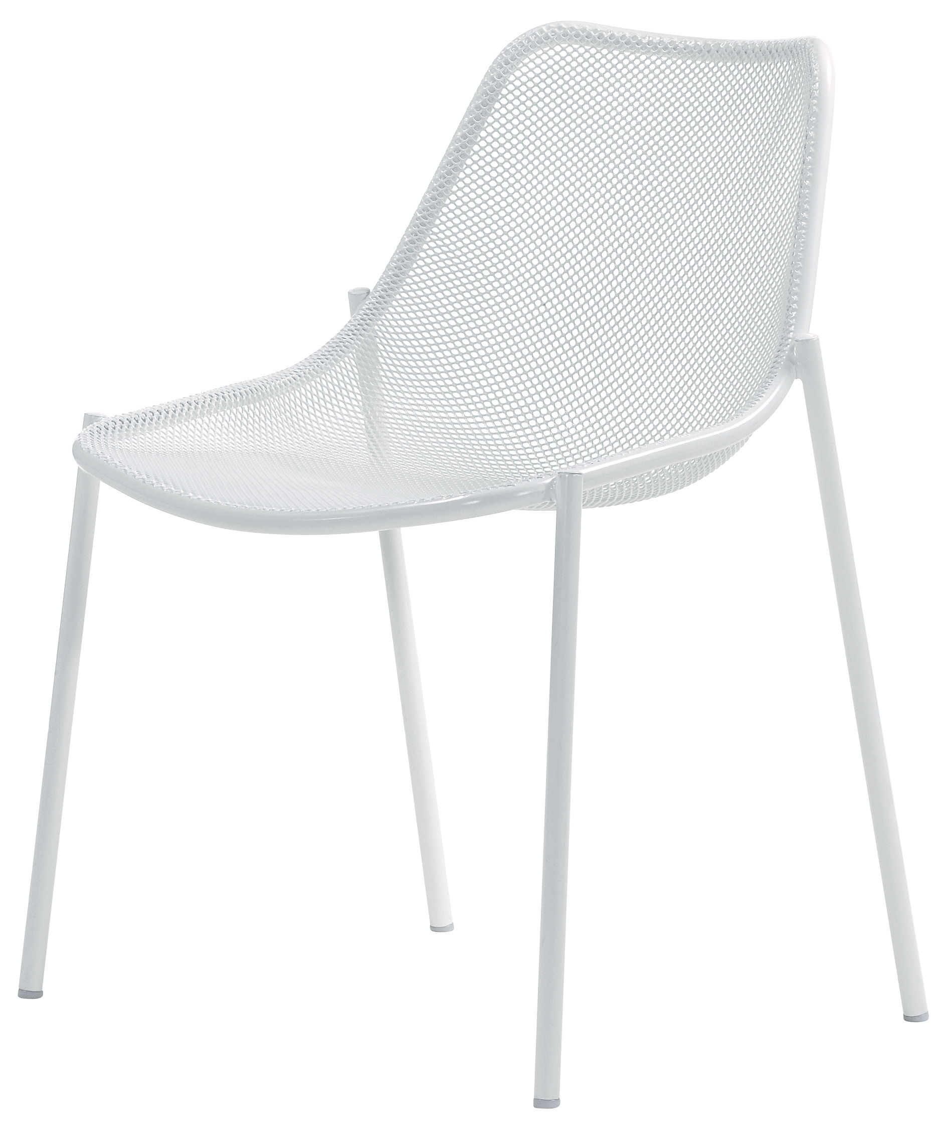 chaise empilable round m tal blanc emu made in design. Black Bedroom Furniture Sets. Home Design Ideas