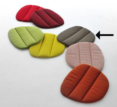 Déco - Coussins - Coussin d'assise / Pour assises Flow - Lot de 2 - MDF Italia - Gris marron - Ouate de polyester, Tissu