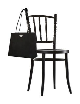 Chaise Extension chair avec porte-sac intégré - Moooi noir en bois